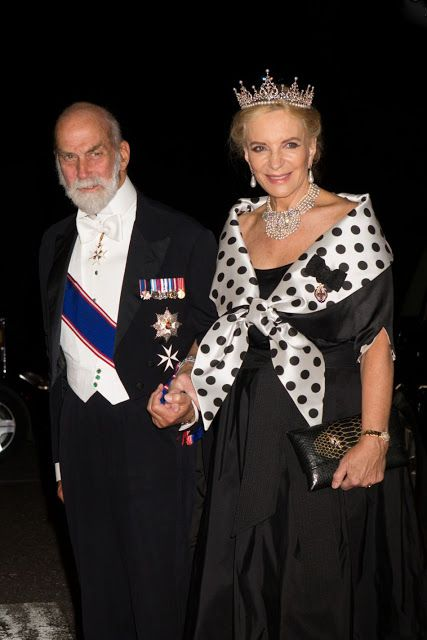 Prince and Princess Michael of Kent arrives for gala dinner at the Royal Palace in honor to wedding of HRH Crown Prince Leka II of The Abanians and Miss Elia Zaharia, October 8, 2016, Tirana Albany