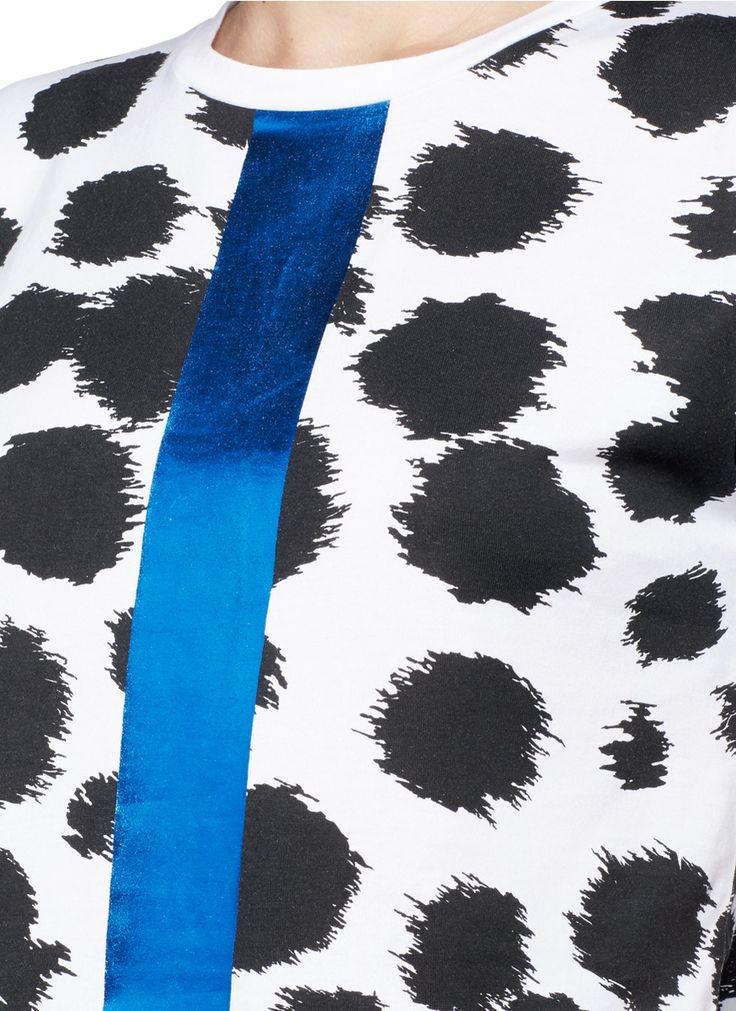 ETRE CECILE - Colourblock stripe cheetah print T-shirt | Multi-colour Short Sleeve Tops | Womenswear | Lane Crawford - Shop Designer Brands Online