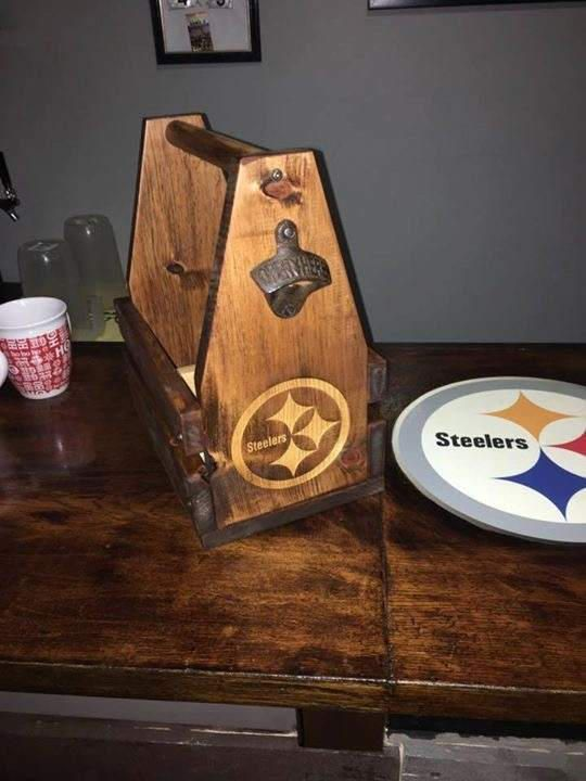 Personalized Morning Wood Customs Handcrafted Wooden Beer Carrier with Bottle Opener / Six Pack by MorningWoodCustomsCo on Etsy