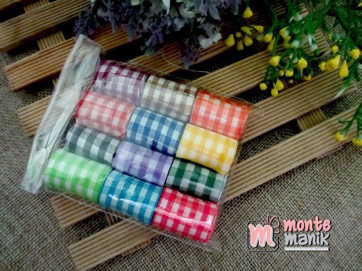 http://www.montemanik.com/product/paket-pita-gingham-1%e2%80%b3-atau-25-cm-pita-118/ Paket Pita Gingham 1″ atau 2,5 cm Warna Campur disesuaikan dengan warna pita yang masih tersedia Dalam 1 set paket pita terdiri dari 12 warna pita dengan panjang masing-masing pita 1 meter  bahan craft, montemanik, paket pita, pita kotak, PITAGINGHAM -  - #BahanCraft, #Montemanik, #PaketPita, #PitaKotak, #PITAGINGHAM -