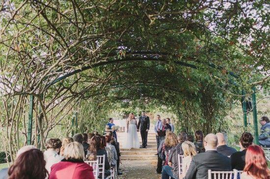 Vintage Garden Wedding under the rose arbour Photography: Anitra Wells http://anitrawells.com Location: Morning Star Estate