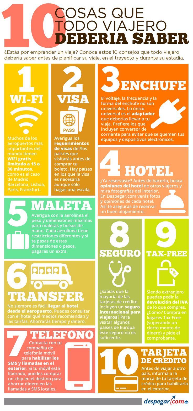 #Viajes y 10 consejos que todo #viajero debería saber