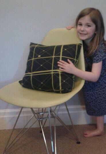 A favourite cushion from Louise Hickfords family home.