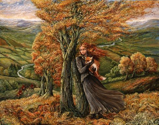 """Autumn Equinox:  """"Saved From The Hounds,"""" by Josephine Wall."""