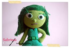 Inside Out Sadness Amigurumi : Disgust Inside Out Free Amigurumi Pattern Crochet Baby ...