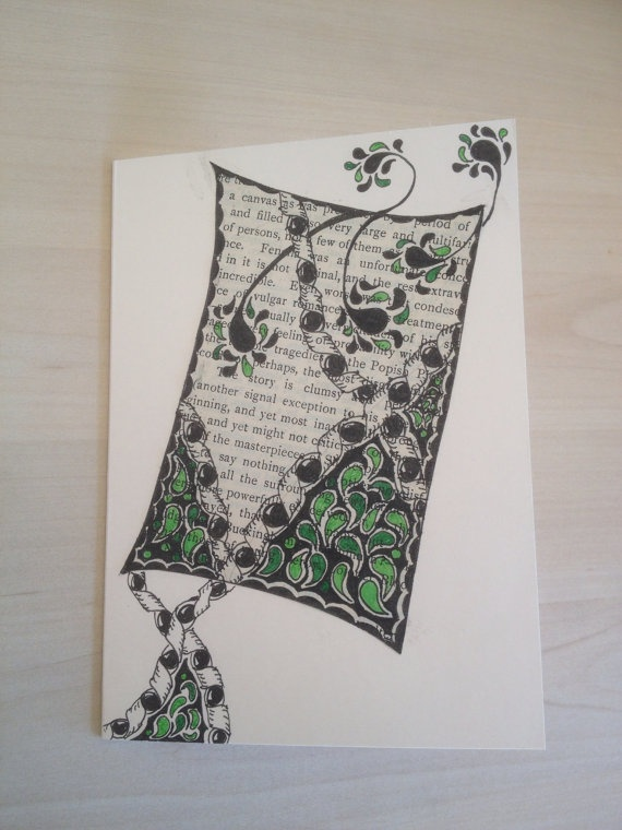 book page art card (no books were harmed in the making of this item)
