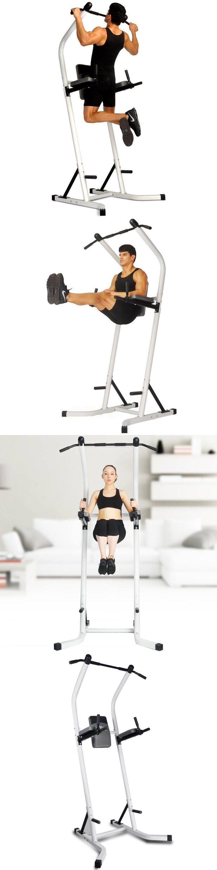 Pull Up Bars 179816: Chin Up Bar Sports Equipment Power Pull Up Bar Tower Standing Dip Station -> BUY IT NOW ONLY: $169.99 on eBay!