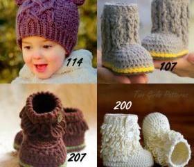 Crochet patterns Any 4 crochet Patterns