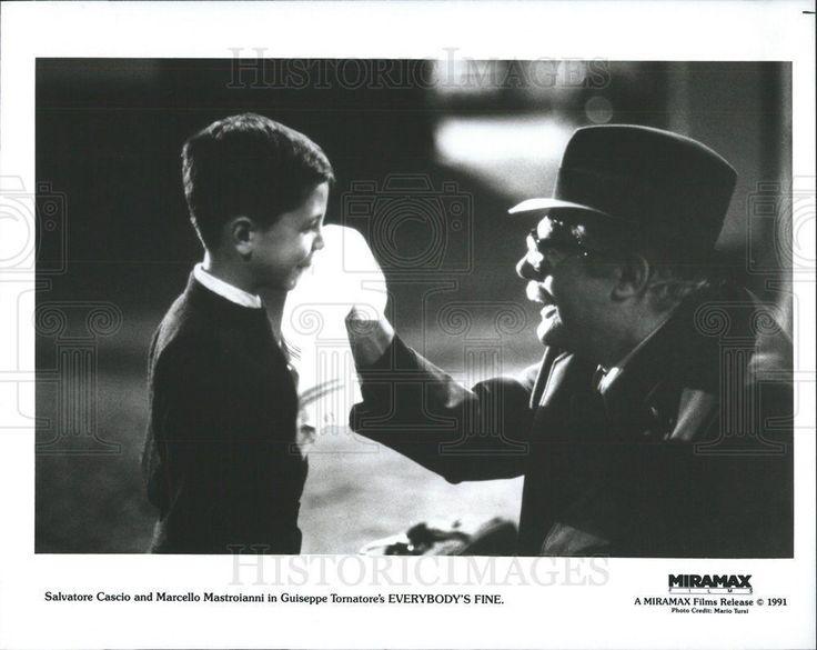 1991 Press Photo Everybody's Fine Film Salvatore Cascio Marcello Mastroianni
