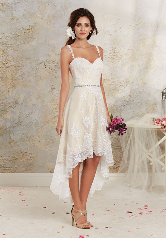 Satin a-line gown with sweetheart neckline and embroidered lace appliqué details I Style: 8535NT I Modern Vintage by Alfred Angelo I http://knot.ly/6496B4seY