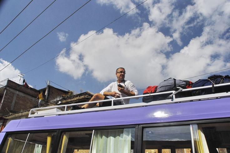 Zwiedzanie z dachu autobusu