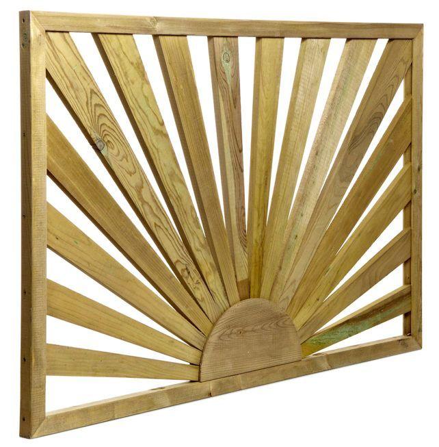 Tanalised Timber Sunburst Trellis Panel (H)762mm (W)1.13m | Departments | DIY at B&Q