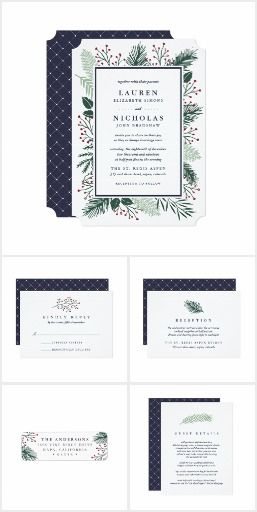 Holly and Pine Wedding Collection