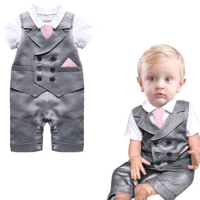 Baby Kid Toddler Boy Grow Gentleman Bodysuit Romper Tuxedo One-Piece  Costume Set  Unbranded  ToddlerJumpsuits 3aa3b4a791
