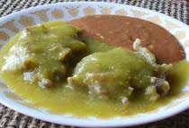 Oh my goodness, this is exactly what my abuela use to make, but would add the tortitas to caldo...I can't wait to try!! Tortitas de carne deshebrada en salsa verde