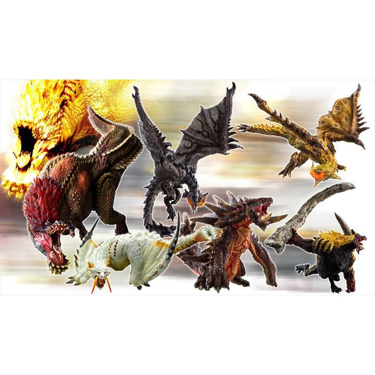 "Some Monster Hunters like to display their trophies of these fascinating creatures in a shelf-friendly size. Good news is, if you're one of those Capcom's got your back covered with these 3.9"" to 5.9"" tall figures! You can get 1 random monster from the lineup that includes Silver Rathalos, Gold Rathian, Barioth and Akantor in their angered state, Savage Deviljho, and Furious Rajang or get a box th... #tokyootakumode #figure #Monster_Hunter"