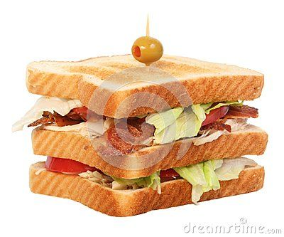 Supreme chicken club sandwich isolated