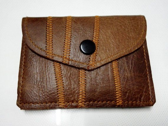 BA003 Leather clutch, leather purse, slim wallet - FREE SHIPPING
