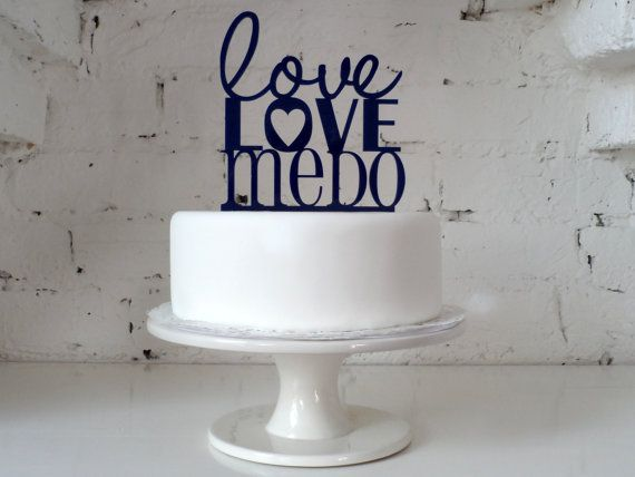 Wedding Cake Topper - 'Love, Love Me Do' Design Available In 16 Colours