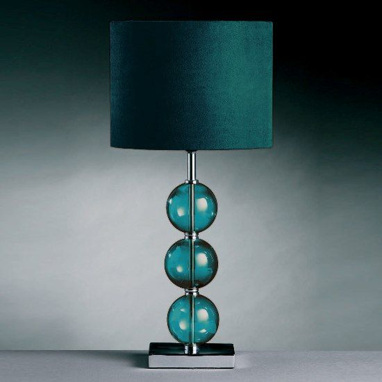 teal glass | Teal Table Lamps on Mistro Teal Table Lamp 2501169 Features ...