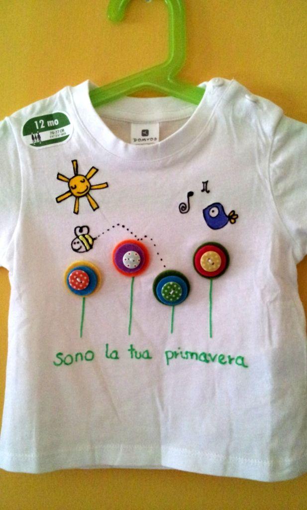Coccolarte Bottega creativa: Più magliette dipinte a mano. Estate 2013