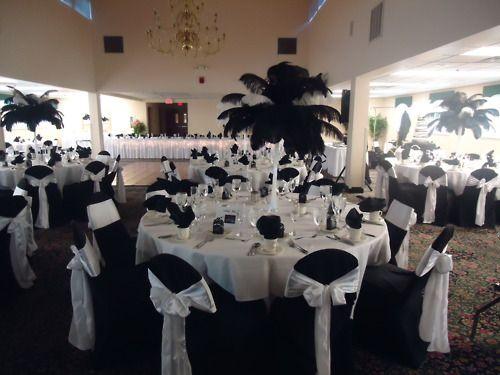 Black and white reception ideas