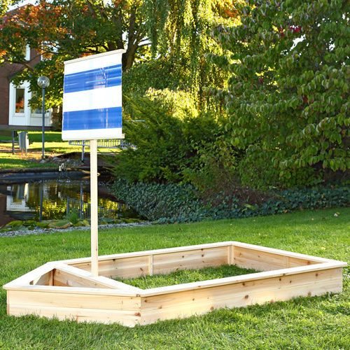 Wooden Row Boat Sandpit 2