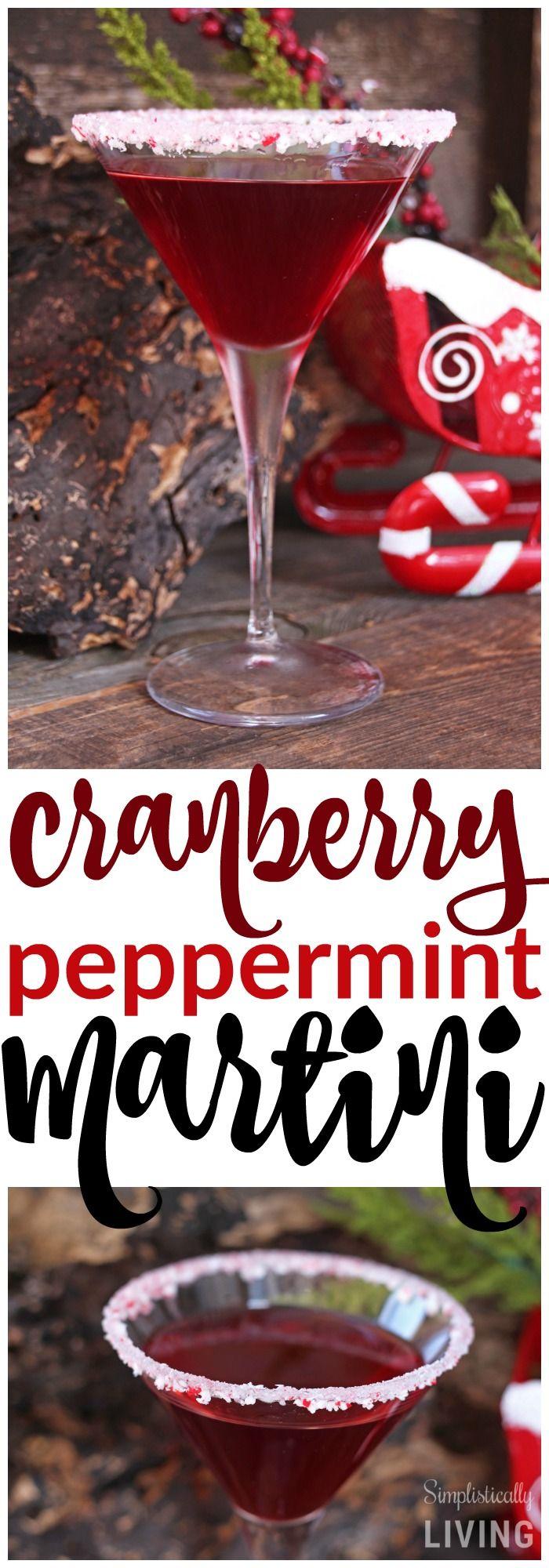 Cranberry Peppermint Martini Simplistically Living