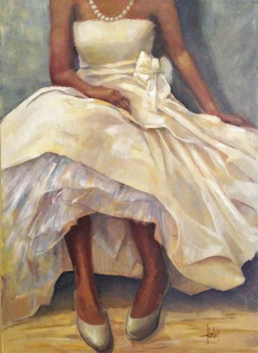 """The Cotillion"" 40x30 oil by Hilarie Lambert Copyright"
