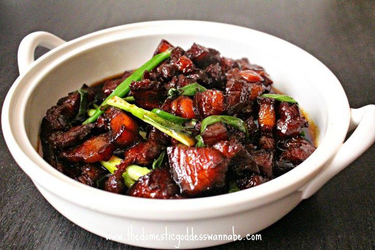 shanghai style braised pork belly (紅燒肉)
