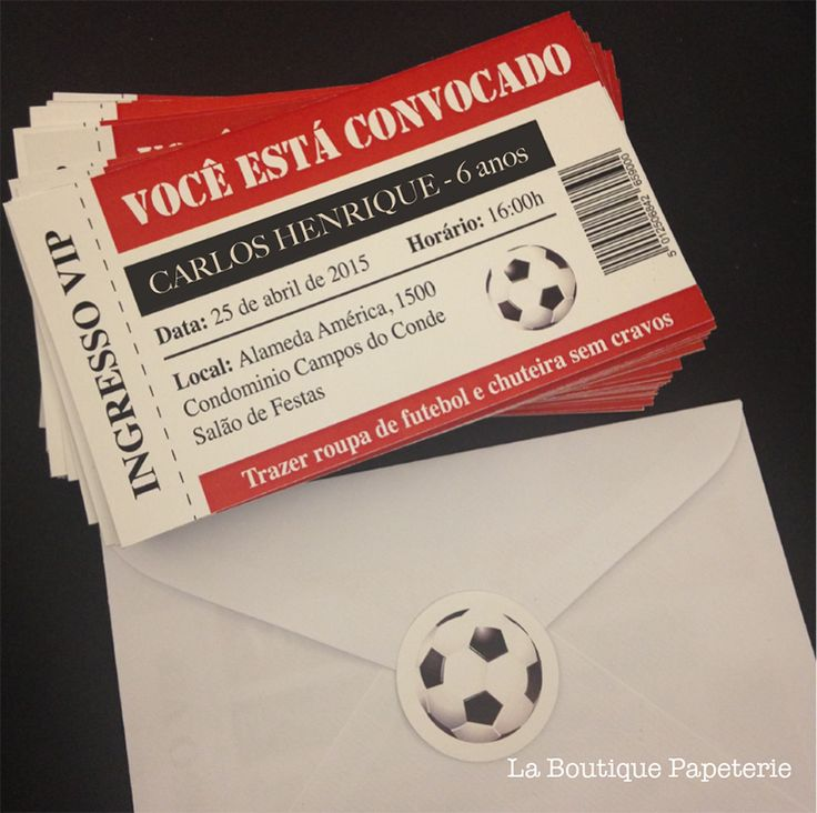 Convite Ingresso Futebol