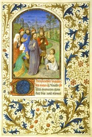 The Raising of Lazarus : Book of Hours - Detail