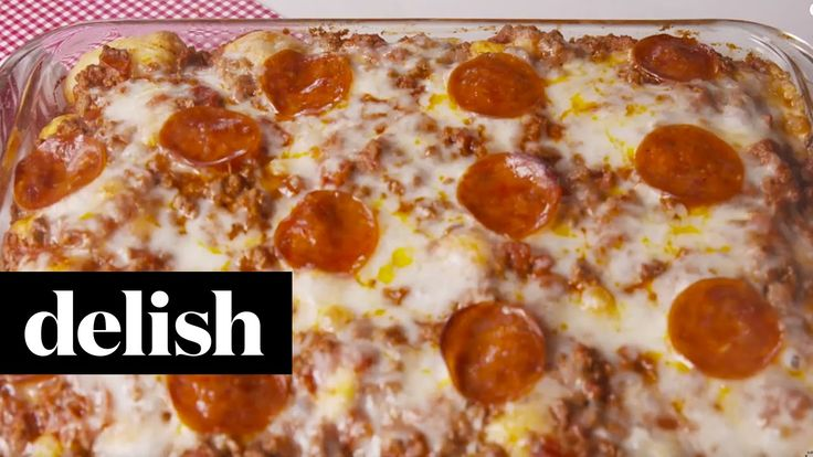 How To Make A Garlic Knot Pizza Bake | Delish