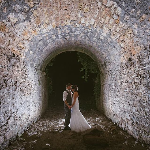 I like what you can do with a dried up creek and a big old beautiful tunnel. It was about 10pm when I dragged Hannah and Brendan out of their reception for this shot. Happy I did. #mrmrsjackson16