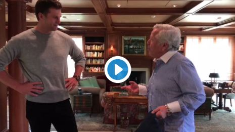 Watch Robert Kraft Present Tom Brady With His Stolen Super Bowl Jerseys
