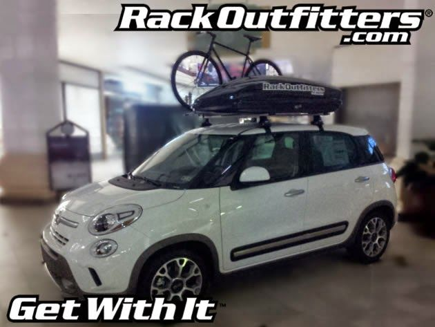 fiat 500l with thule roof rack hey downsizing is hard