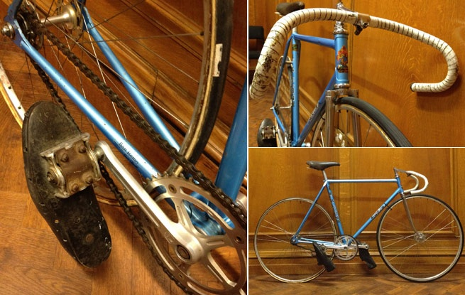 Olympic cyclist Ernie Crutchlow won the 1980 British sprint championship on a Falcon track bike (with shoes attached), represented Great Britain at the Munich Olympics and won gold medals at the British Cycling Federation Championships six times