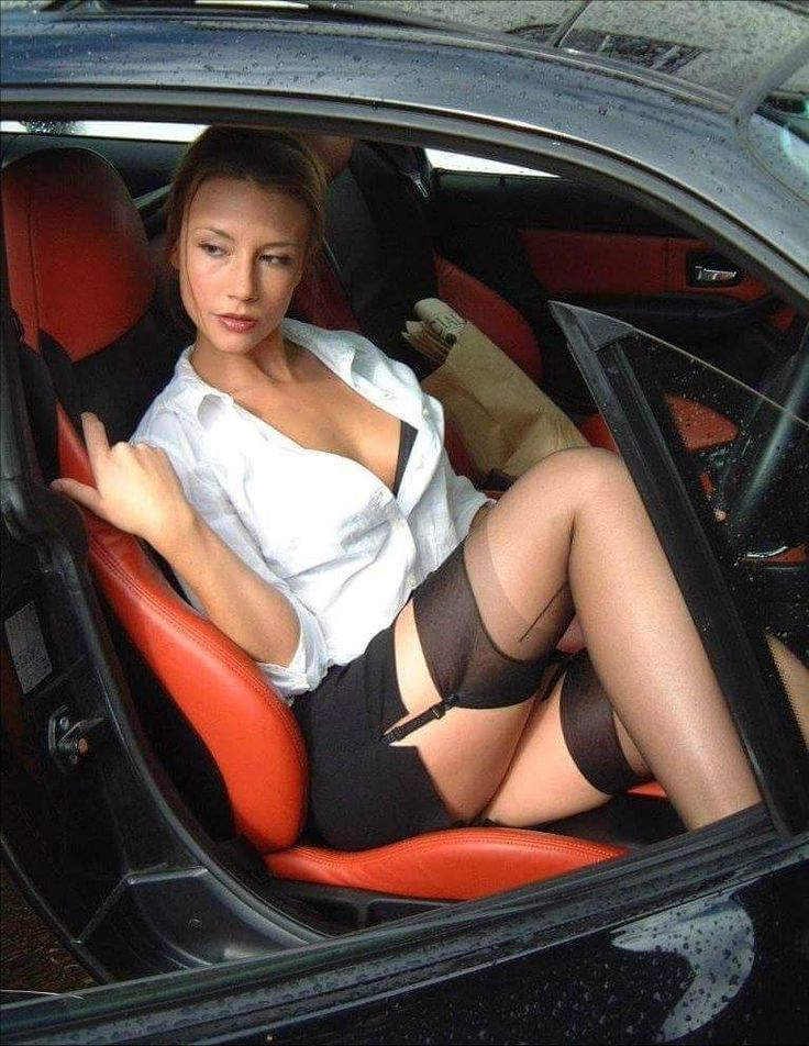Stockings in the car
