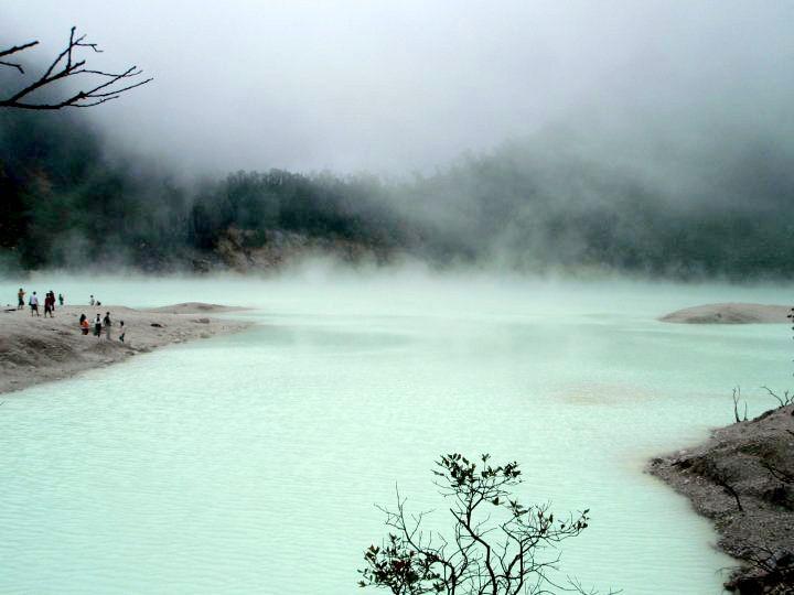 Nature tourism Crater Putih, Ciwidey Bandung, Indonesia1