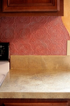 My Kitchen Wallpaper Backsplash Plaster Walls With Glaze