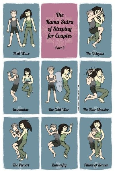 The Kama Sutra Of Sleeping For Couples - http://mother-less.net/kama-sutra-sleeping-couples/