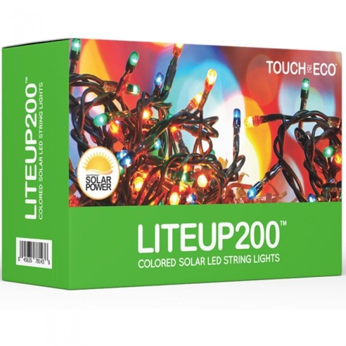 Liteup200 Solar LED String Lights White or Multi-Color (Multi)