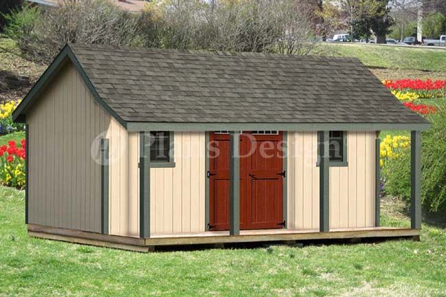 Details about 16x20 ft guest house storage shed with porch for Shed plans and material list