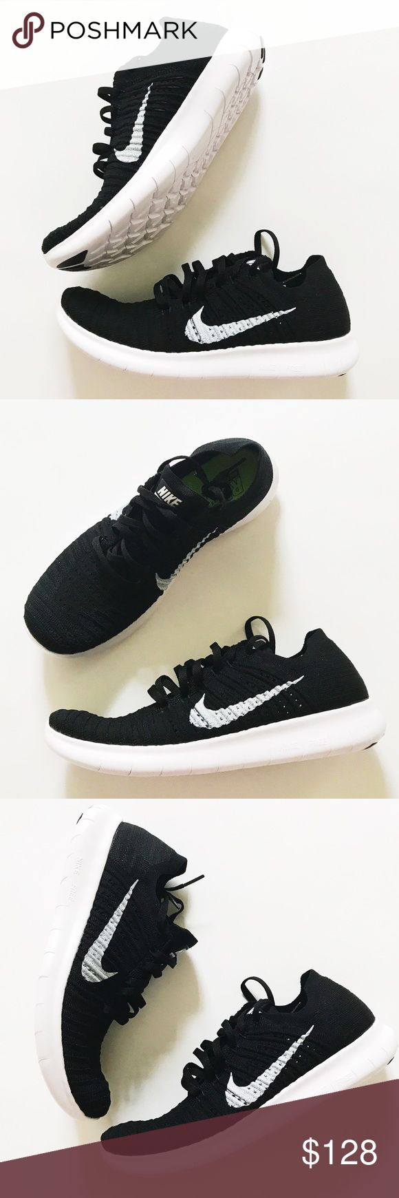 Nike free flyknit running shoes Brand new with box. These are light weight,  super comfortable, have flexible support and soc like upper. True to size.