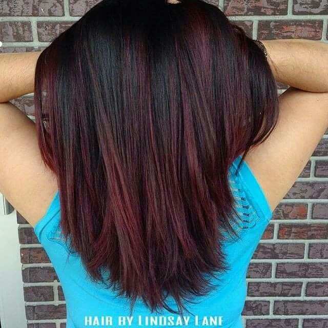 Image result for Balayage light brown and purple ends