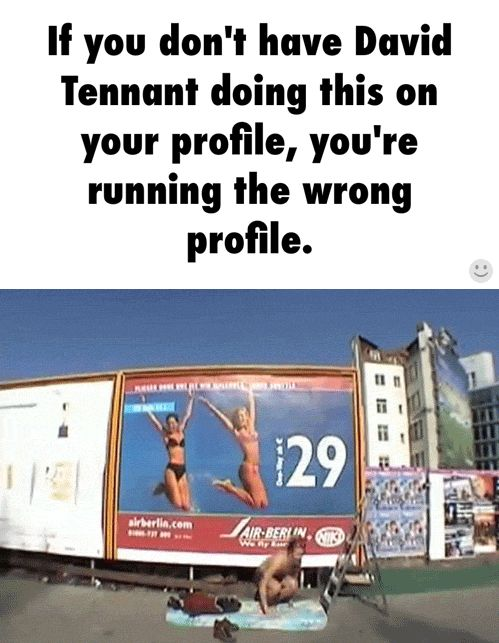 tennant jumping for joy