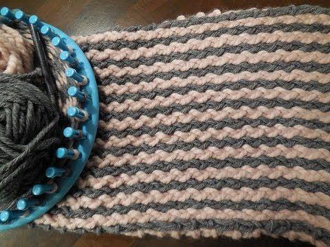 tutorial breiring : sjaal met Verticale strepen - YouTube
