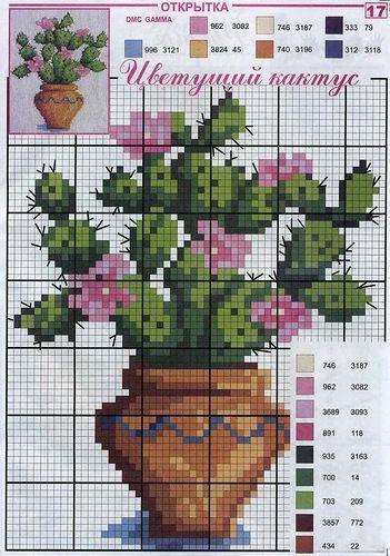 Cross stitch cactus