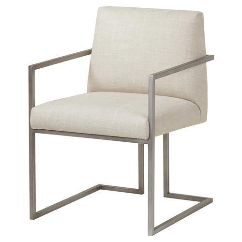 Wondrous Maison 55 Paxton Mid Century Modern Beige Metal Dining Arm Cjindustries Chair Design For Home Cjindustriesco