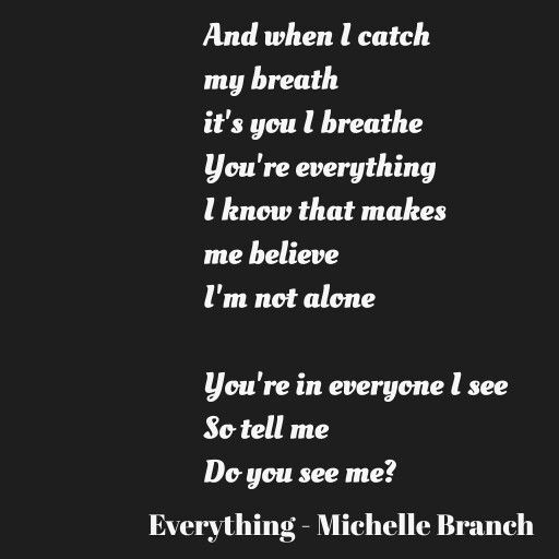 And when I catch my breath it's you I breathe You're everything I know that makes me believe I'm not alone You're in everyone I see So tell me Do you see me? by Firesleeper